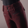 upgrade fashion wool comfortable women flared pant trouser