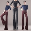 fashion wool work office style women's flare pant,formal toursers
