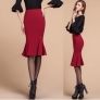 fashion new Korea grace formal knitted slim fish tail skirt