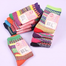 fashion cotton linen blends medium thick women's socks