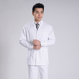 fashion white front open dentist uniform doctor coat and trousers