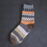 vintage pattern knitted jacquard fashion men socks