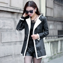 2014 winter autumn lamb fur Korea design keep warm women's jacket coat