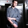 fashion overlap denim unisex chef work coat clothing