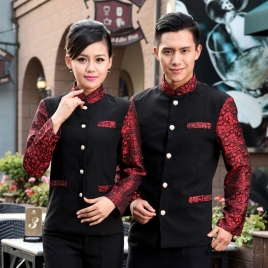 Traditional stain formal water waitress Tang suit costume