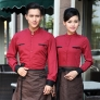 high quality long sleeve shirt uniform for waiter waitress