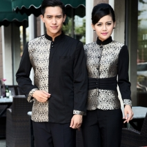 wedding formal style service staff blouse blazer uniform for waiter