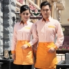 summer stripes professional waiter waitress uniform customization,factory outlets
