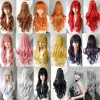 fashion Europe America colorful cosplay long curls Wig , wavy hair ,80cm