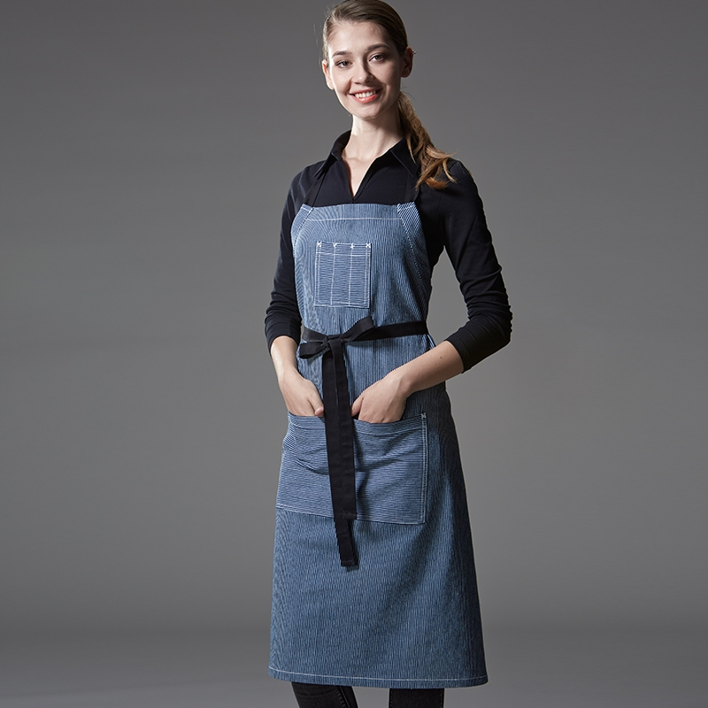 Hot Sale American Restaurant Denim Chef Apron Waiter Apron
