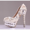 France design great quality crystal wed shoes bride shoes high heel pumps