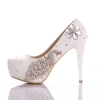 high quality PU leather rhinestone peacock bird women's high heels pumps