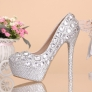 Transparent fashion chic crystal dance shoes high heel shoes women pumps
