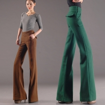 thicken woolen wide leg office formal women's flare pants bellbottoms