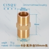 3/4 inch,50mm,75g full thread couplinghigh quality copper water pipes nipple
