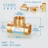 "color 458-3 copper pipe fittings straight tee  true ""Y"" tee home using"