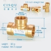 color 5high quality 38-5 copper pipe fittings straight tee  y style tee