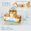 color 6high quality 38-5 copper pipe fittings straight tee  y style tee