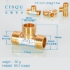 color 7high quality 38-5 copper pipe fittings straight tee  y style tee
