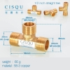 color 8high quality 38-5 copper pipe fittings straight tee  y style tee