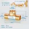 color 9high quality 38-5 copper pipe fittings straight tee  y style tee
