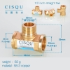 color 12high quality 38-5 copper pipe fittings straight tee  y style tee