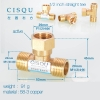 color 17high quality 38-5 copper pipe fittings straight tee  y style tee