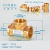 color 21high quality 38-5 copper pipe fittings straight tee  y style tee