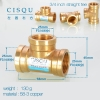color 22high quality 38-5 copper pipe fittings straight tee  y style tee