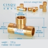 "color 2358-3 copper pipe fittings straight tee  true ""Y"" tee home using"