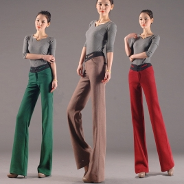 comfortable smooth fashion woolen women's flare pants