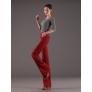 lengthen woolen straight leg woman large flare pants trouser