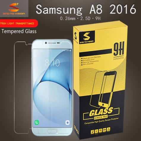 High light transmittance hongmi tempered glass  screen protector for Samsung A8