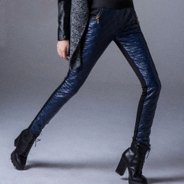 slim design winter padded thicken lady pencil pant trousers