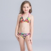 new design cloth flower two piece girl bikini