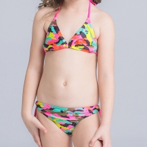 camouflage two piece little girl bikni suit