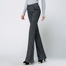 office style wool thicken women pant flare pant