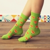 cute fox head print cotton young lady women socks