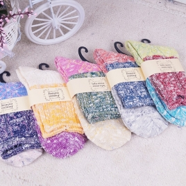 great quality snow pattern bulky knitted women socks
