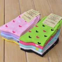 cute small heart print women socks