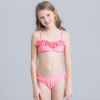 1colorful-dashed hem girl swimwear girl bikini