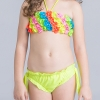 8colorful-dashed hem girl swimwear girl bikini