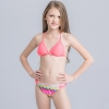 10colorful-dashed hem girl swimwear girl bikini
