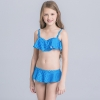 13colorful-dashed hem girl swimwear girl bikini