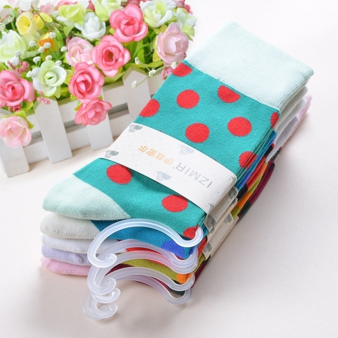 cute dot print thick cotton young fashion women socks