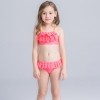 14colorful-dashed hem girl swimwear girl bikini