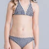 17fashion wrapped chest teen girl  swimwear two piece set