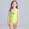 19cute flower stripes one piece girl water play swimwear