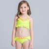 21colorful-dashed hem girl swimwear girl bikini