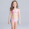22cute flower stripes one piece girl water play swimwear